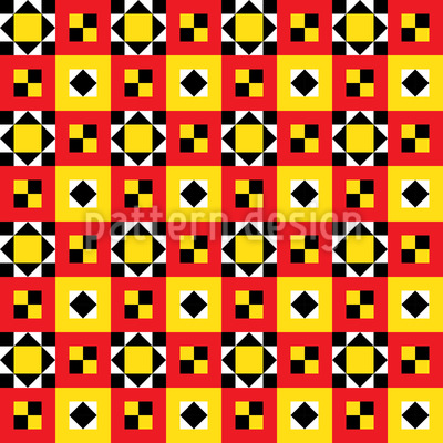 Bright Ethno Quilt Seamless Vector Pattern