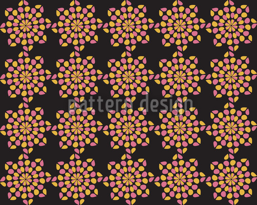 Black Dotty Seamless Vector Pattern