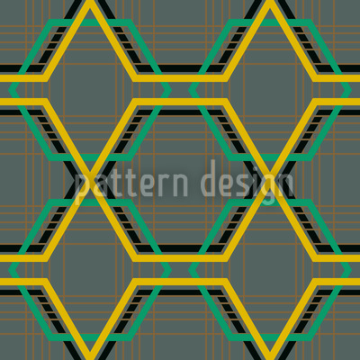 Golden Cage Repeat Pattern