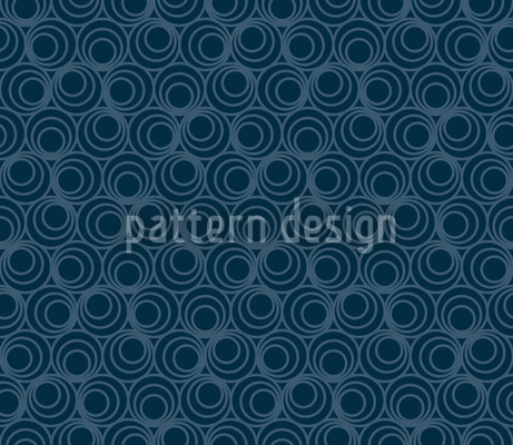 Polyps Blue Design Pattern