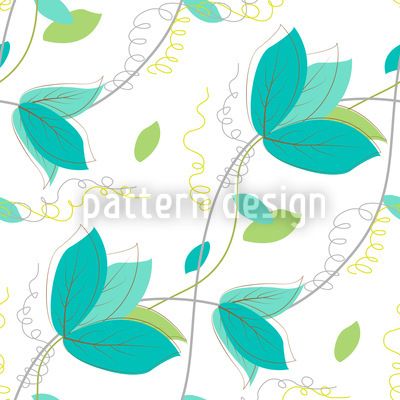 Zarte Blätter Rapportiertes Design