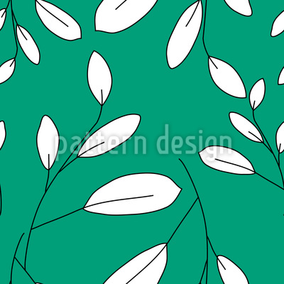 Weisse Blätter Rapportmuster