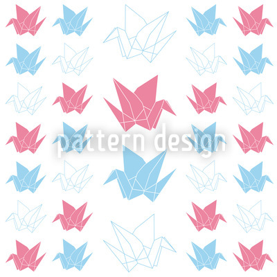 Origami Kraniche Musterdesign