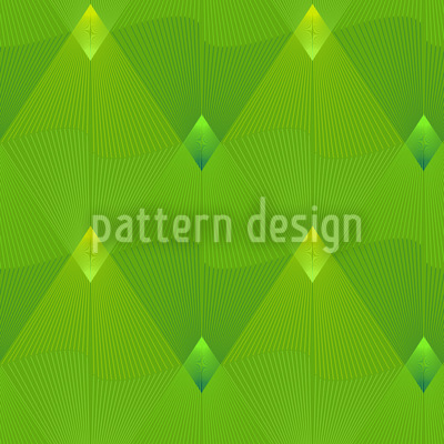 Little Green Lanterns Vector Pattern