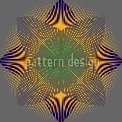 Geometrische Blüte Vektor Design