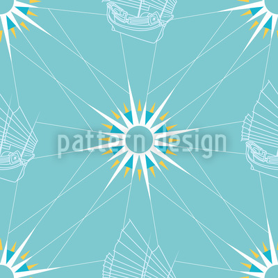 Segel Muster Rapportiertes Design