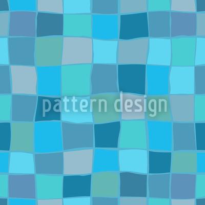 Blue Green Facets Pattern Design