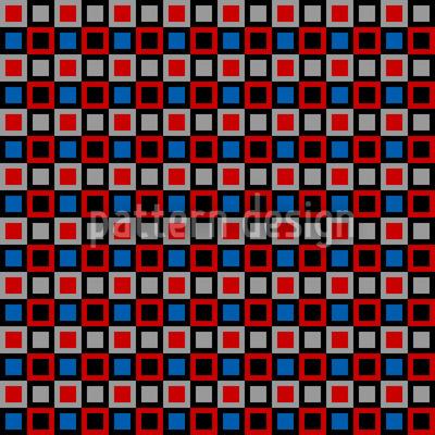 Vintage Quadrate Nahtloses Vektor Muster