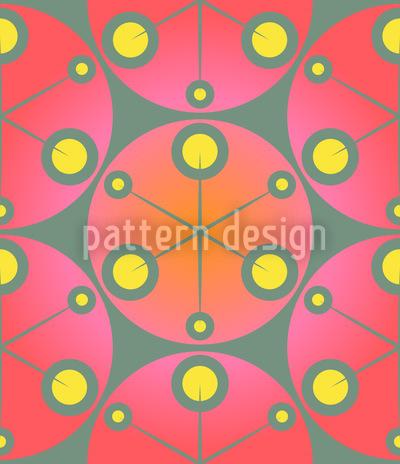 Rote Punkte Vektor Ornament