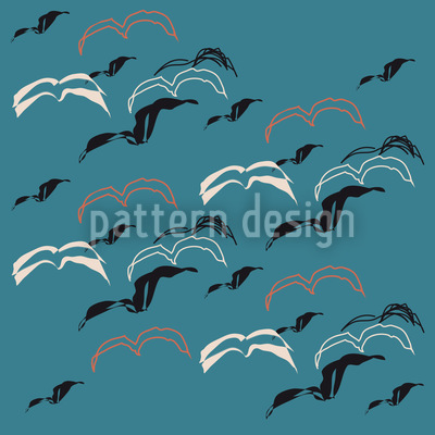 Seagulls Vector Ornament
