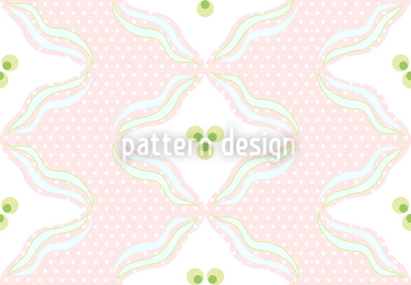 Polka Dots With Waves Vector Design