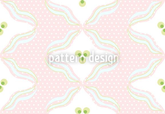 Polkadots Mit Wellen Vektor Design