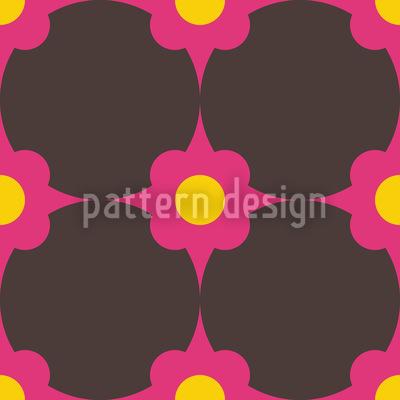 Blumenpunkte Pink Musterdesign