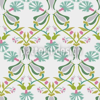 Tulpen Und Nelken Geflecht Nahtloses Vektor Muster