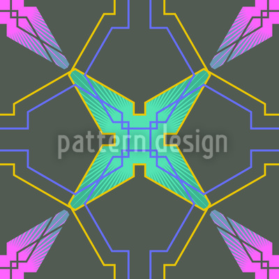 Greek Lattice Vector Pattern