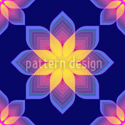 Digital Flowers Pattern Design