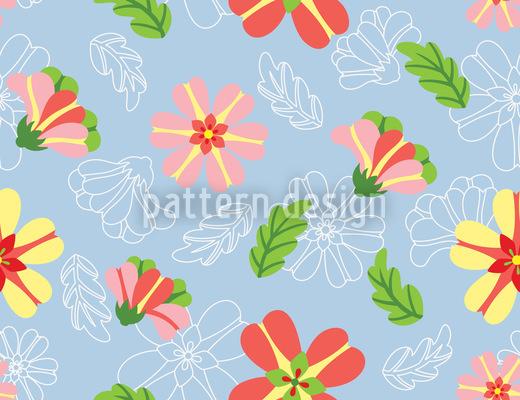 Zuckerguss Blumen Designmuster