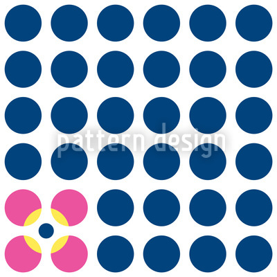 Floral Dots Vector Pattern