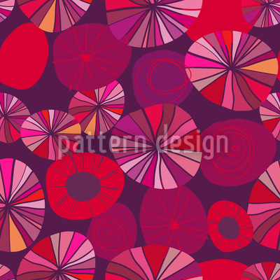 Red Potpourri Vector Pattern