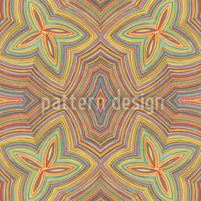 Crayon Flowers Repeat Pattern