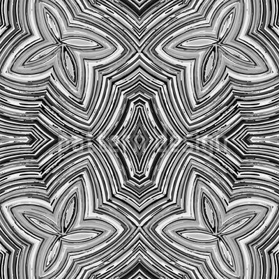 Buntstift Blumen SW Muster Design