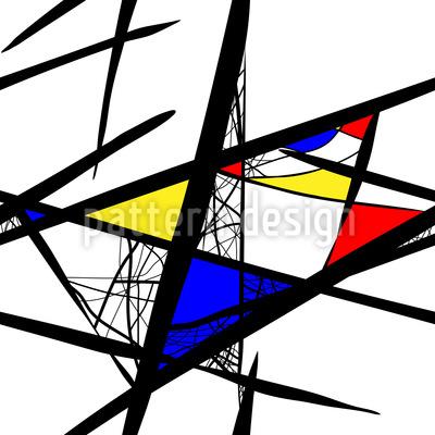 Abstrakte Komposition Nahtloses Muster