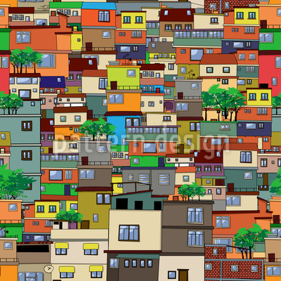 Favela Seamless Vector Pattern