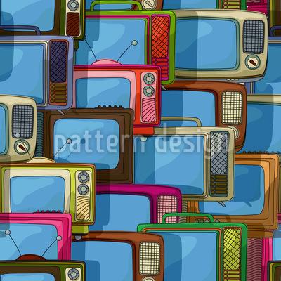 Fernseher Collage Vektor Design