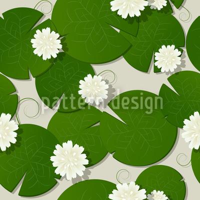 Wasserlilien Designmuster