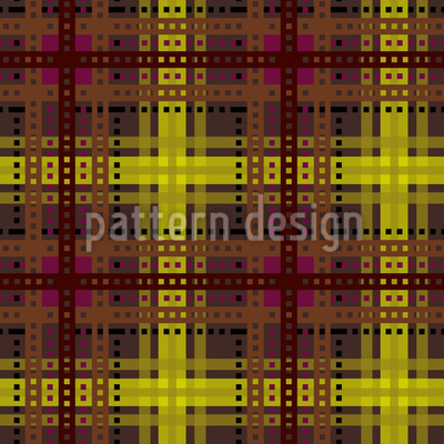 Brown Tartan Pattern Design