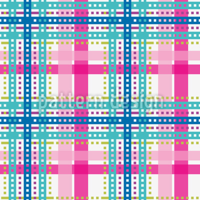 Bright Tartan Design Pattern