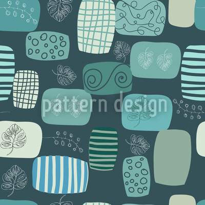 Patches In Blue Vector Design