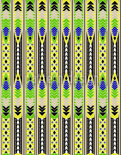 Formen und Streifen Rapportiertes Design