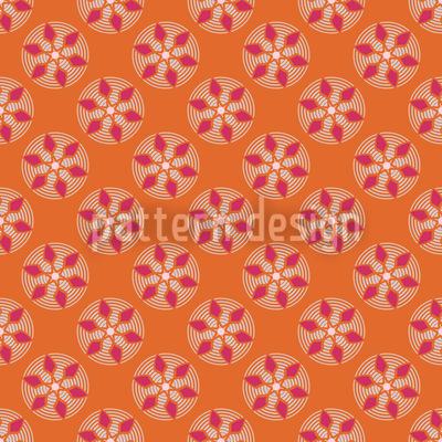 Fantasy Pit Orange Pattern Design