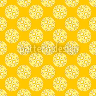 Fantasy Pit Yellow Pattern Design