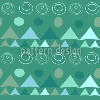 Triangles In Green Vector Pattern