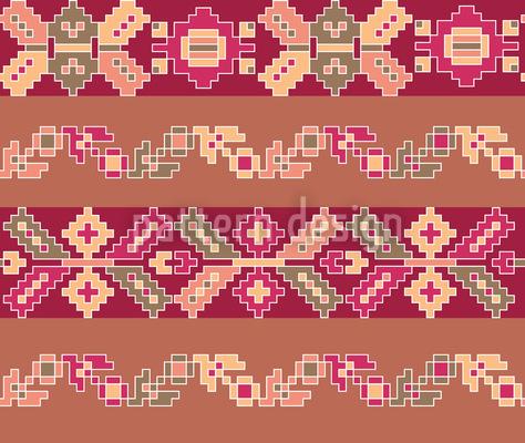 Folk Stripes Vector Design
