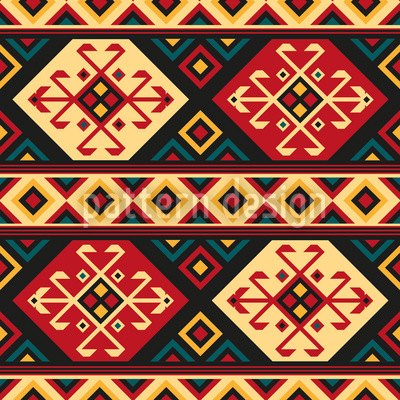 Colorful kilim repeating pattern for Kilim designs