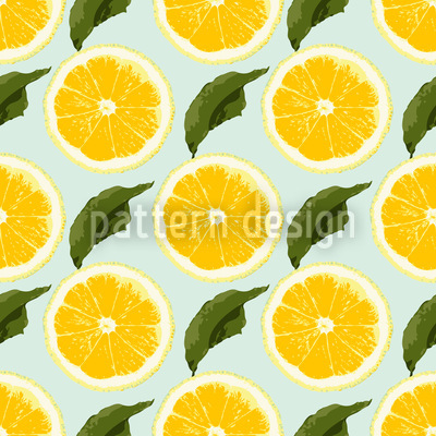 Fresh Lemons Seamless Pattern