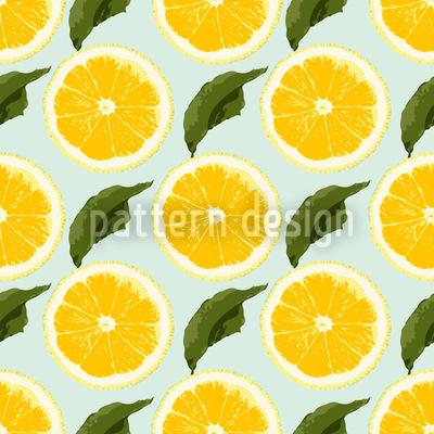 Frische Zitronen Nahtloses Muster