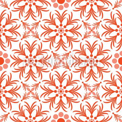 Orange Flowers Vector Design