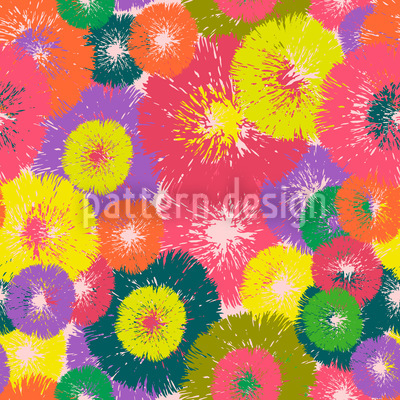 Thistle Pop Vector Pattern