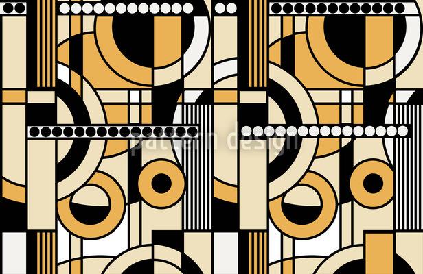 Beige Ornament Pattern Design