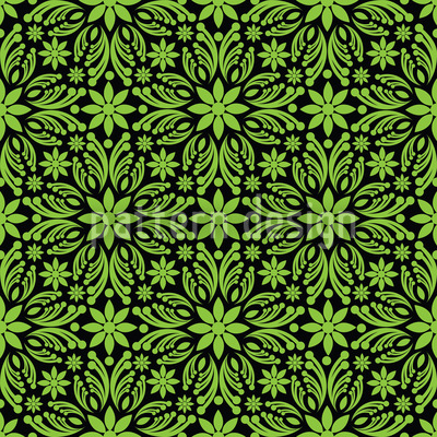 Green Farrago Vector Pattern
