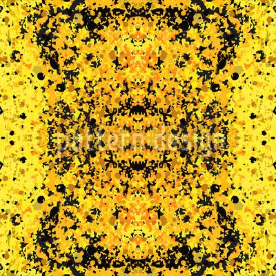 Fleckig Gelb Designmuster