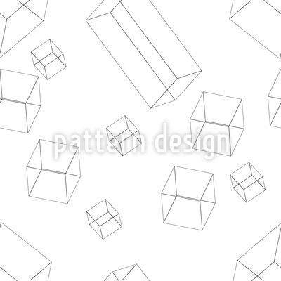3D Wire Objects Vector Ornament