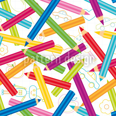 Colored Pencils Design Pattern