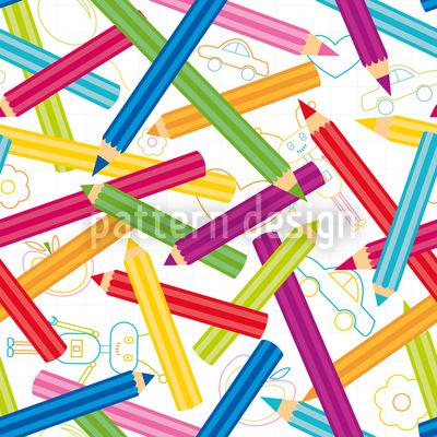 Farbige Stifte Designmuster