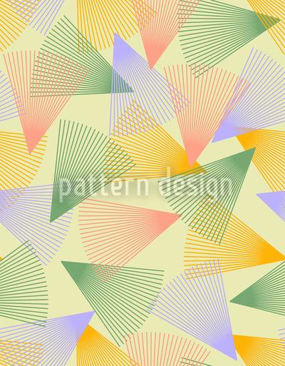 Wirbelnde Helle Dreiecke Rapportiertes Design