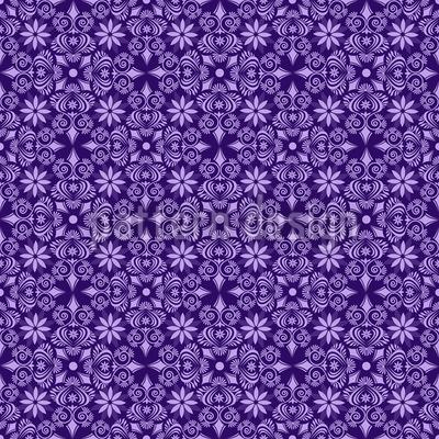 Violettas Traumreisen Nahtloses Vektor Muster